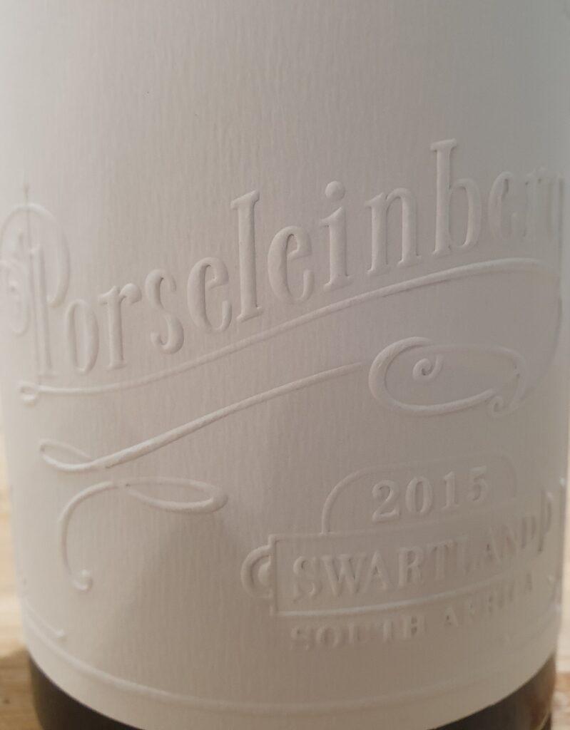 heerlijk diner Porseleinberg Syrah