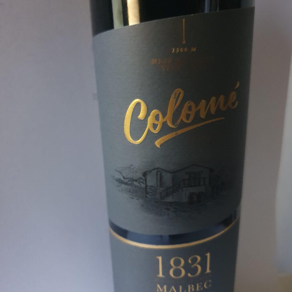 Colome 1831 een sublieme wijn