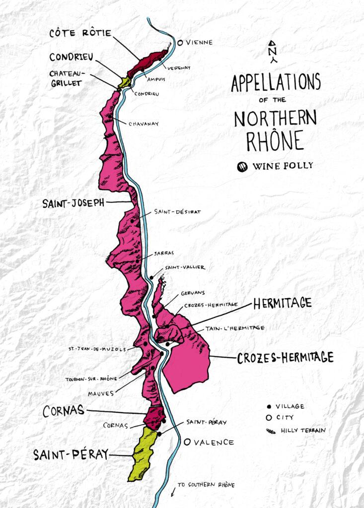 Krachtige fabelachtige wijnen uit noordelijke Rhône