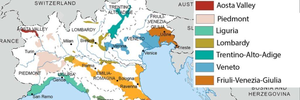 Noord Italië een regio met tegenstellingen