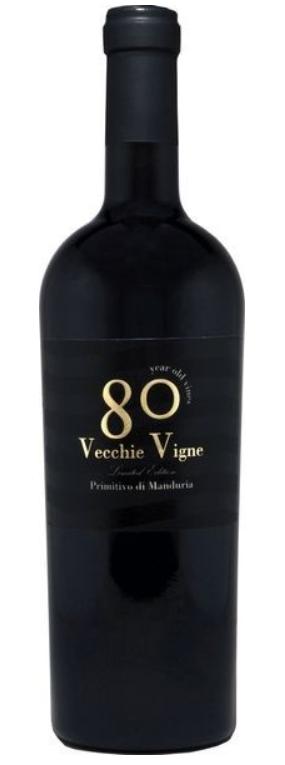 Je proeft de zon in deze wijn uit 1 van de 5 zuid Italiaanse streken in deze 80 Vecchi Vigne